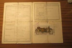Harley-Davidson-Motorrad-mit-Beiwagen-Prufungszeugnis-Wien-1926