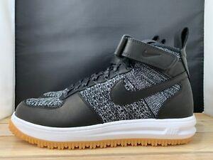 new styles e5075 d426b Image is loading Nike-Lunar-Force-1-Flyknit-Workboot-Black-White-