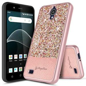 Details about For AT&T AXIA (QS5509A) Case | NageBee® Glitter Slim  Shockproof Hybrid Cover
