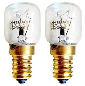 2x-25-W-lamparas-Philips-T25-Genuino-Horno-Cocina-Bombillas-240-V-ses-E14-300-grados