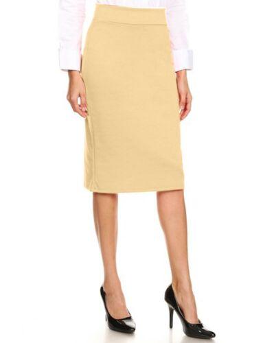 NE PEOPLE Womens Basic Elastic Midi Length Stretchy Ponte Pencil Skirts NEWSK40