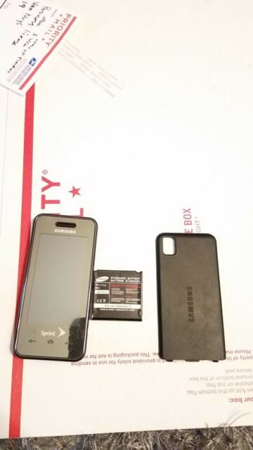 Samsung Instinct Sph M800 Black Sprint Cellular Phone For Sale Online Ebay