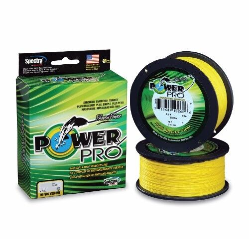 Power Pro Spectra Braid Fishing Line 200 lb Test 1500 Yards Hi-Vis Yellow 200