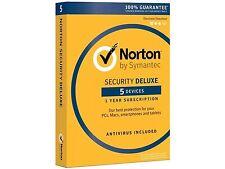 Norton Internet Security Antivirus Deluxe 2017 5 Device PxC/MAC/Android/iOS NEW