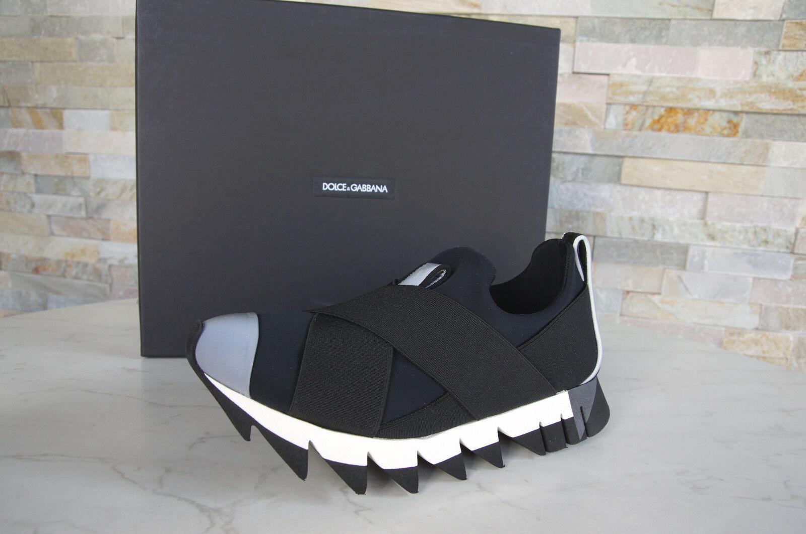Dolce & Slipper Gabbana Taglia 35,5 SNEAKERS Slipper & Slip-Ons Scarpe nero NUOVO UVP 403dab