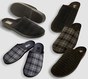 damen bestbewertet billig modischer Stil Details zu Herren moderne Samt Clogs HausSchuhe feste Laufsohle Gr. 40-46  Pantoffeln NEU