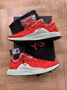 48d2ed492083 Adidas Y3 Futurecraft 4D Red Uk Size 10 Boxed New Limited Shoe