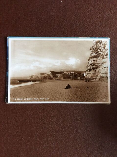 b1k postcard used 1950 the beach west bay