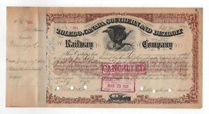 Cornelius-Vanderbilt-II-Toledo-Canada-Southern-and-Detroit-Railway-Co-Stock