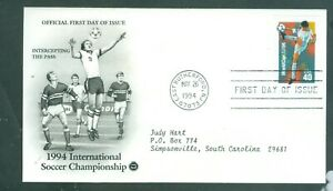 US-FDC-2834-35-36-INTERN-SOCCER-CANCL-MAY-26-1994-E-RUTHERFORD-N-J-ADDR