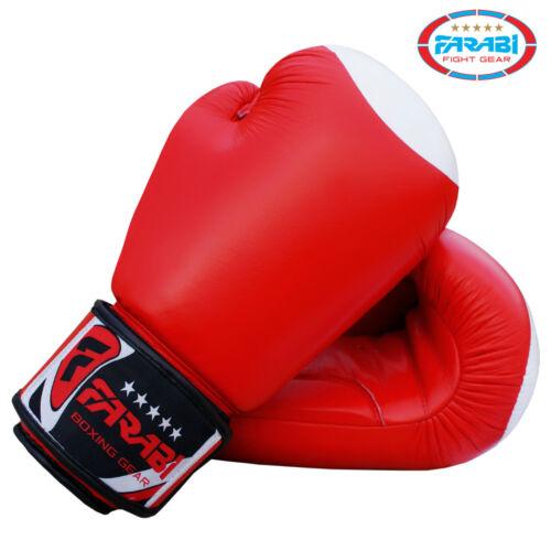 FARABI Boxing Glove Real Grain leather Training Sparring Punching Bag Mitt