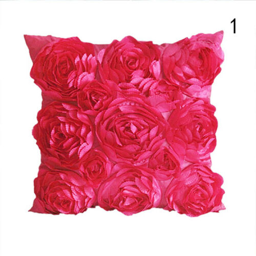 Satin Kissenbezug Rose Square Kissenhülle Kissenbezüge Sofa Cushion  NEU