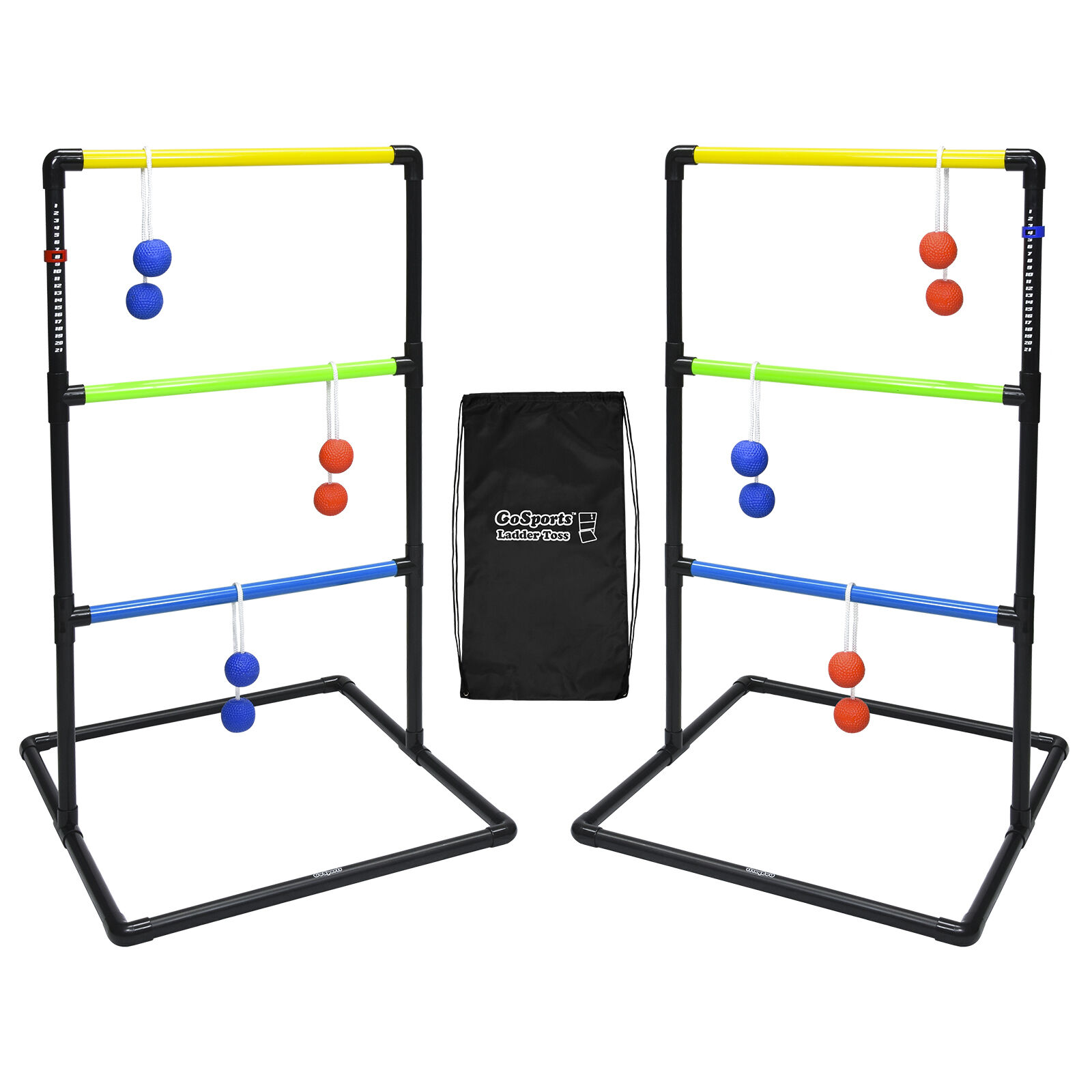 GoSports Indoor Outdoor Ladder Toss Set (Includes 6 Rubber Bolos and Case)