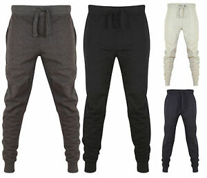 POLO-da-Uomo-Slim-Fit-Jogging-Bottoms-Skinny-Pantaloni-sportivi-tuta-in-felpa-sweat-pantalone-da