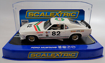 "Scalextric ""Castrol"" Ford Mustang Boss GTX 302 DPR 1/32 Slot Car C3538"