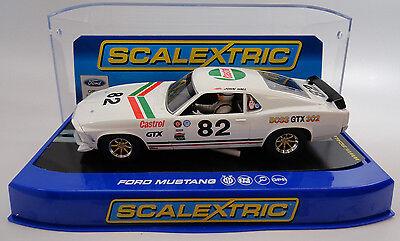 "Scalextric ""Castrol"" Ford Mustang Boss GTX 302 DPR 1/32 Slot Car C3538"
