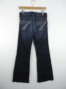 Women-039-s-7-For-All-ManKind-Brand-Dark-Wash-Jeans-Size-26