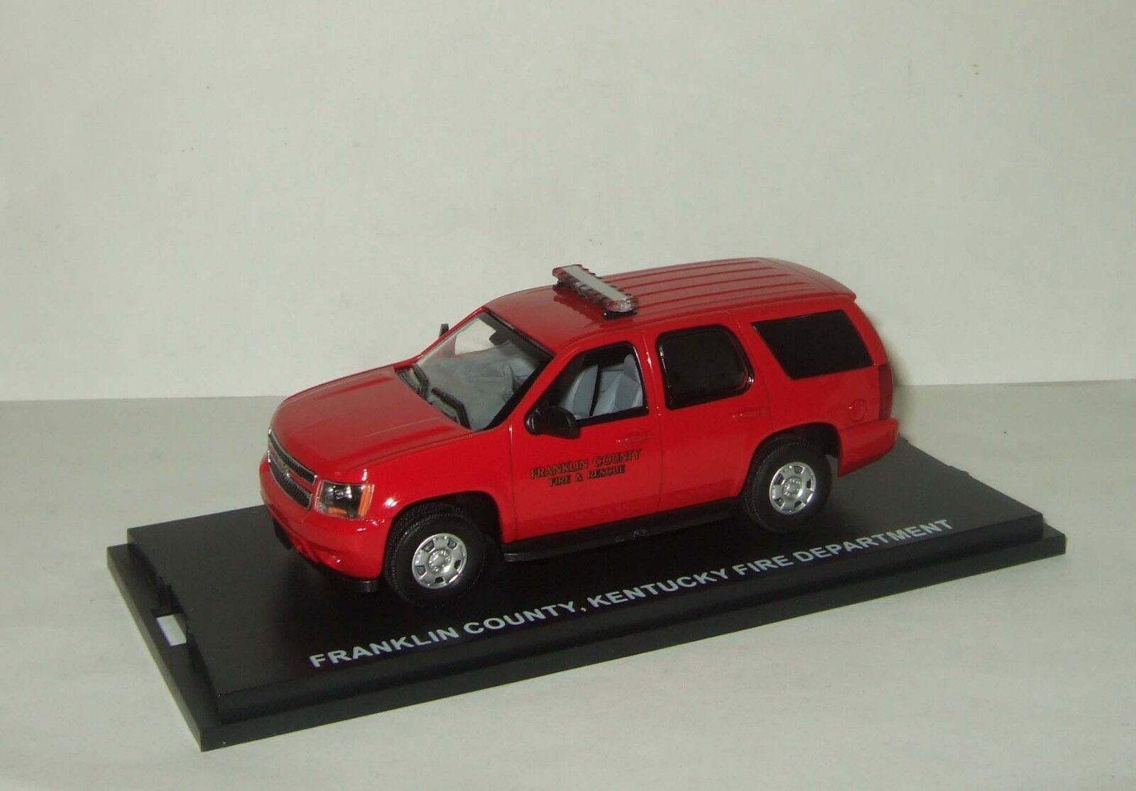 1 43 Chevrolet Tahoe 4x4 4WD primera respuesta departamento de bomberos de Kentucky 2011