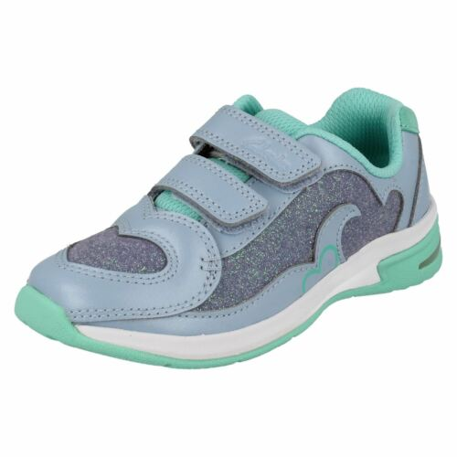 Girls Clarks Piper Chat Casual Trainers with Lights