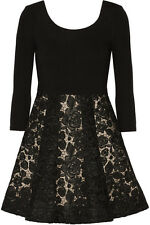 ALICE AND OLIVIA 'AMIE' BLACK LACE CROCHET MINI DRESS PARTY, WEDDINGS RACES