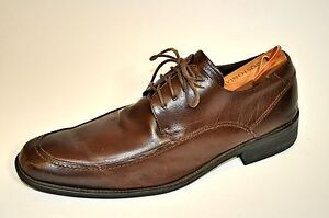 Mens-Via-Spiga-Dempsey-Brown-Leather-Pointed-toe-Oxford-Dress-Casual-Shoes-9-5M