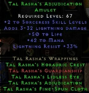 Diablo 2/ D2R/ DIIR/ Diablo 2 Resurrected: SOFTCORE 1x Tal Rasha Amulet