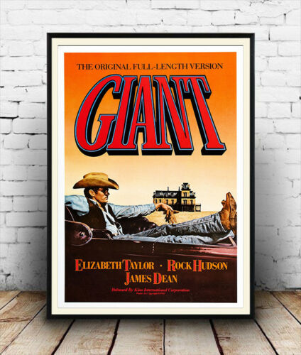 Giant Vintage James Dean Film poster reproduction