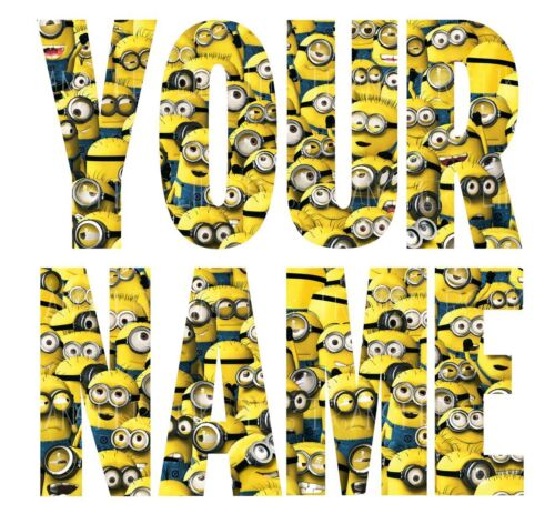 STAR WARS LEGO MINION LETTER NAME IRON ON TSHIRT TRANSFERS PERSONALISED  LOT SWT