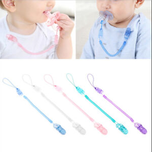 Baby Infant Spring Dummy Pacifier Soother Nipple Clip Chain Holder Strap HK