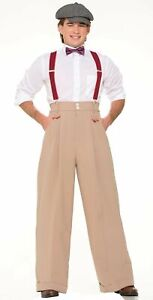 Roaring 20's Tan Beige Large Boater Deluxe Pants Adult Mens Costume Accessory