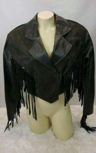 Chia 100% Leather Motorcycle Jacket Women Size XS