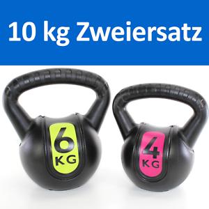 10-kg-BASIC-KUGELHANTEL-Set-Kettlebell-6-kg-4-kg-Kunststoff-coat-A