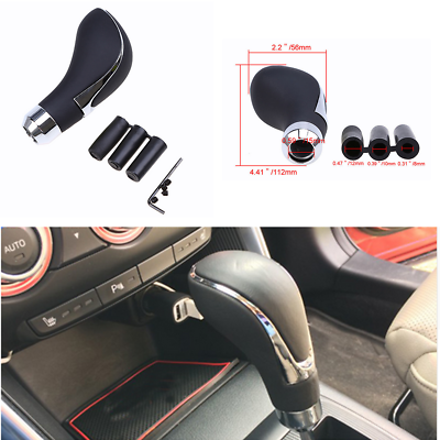 High Quality Real Leather Car Gear Shift Knob Shifter Lever Universal Manual