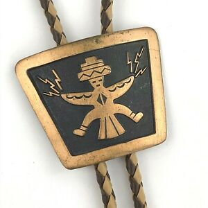 Man\u2019s Eagle Necklace on Braided Leather Bolo Cord