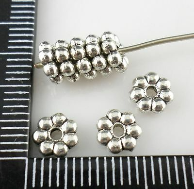 160/1300pcs Tibetan silver DIY Small Flower Spacer Beads 6mm  (Lead-free)