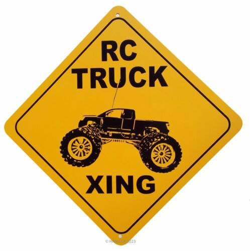 """12 X 12/"""" METAL NOVELTY SIGN TRUCK XING R.C"""