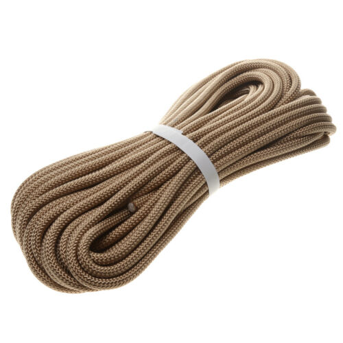 Rock Climbing Safety Sling Rappelling Rope Auxiliary Cord 20m Khaki 12KN
