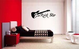 Image Is Loading GUITAR ROCK STAR DECAL WALL VINYL DECOR STICKER