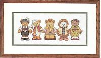 Simplicity Counted Cross Stitch Kit Hands Across The World Teddy Bears Jca