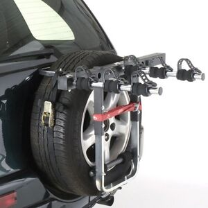 Mottez 4x4 Spare Wheel Mount 3 Bike Cycle Carrier Rack