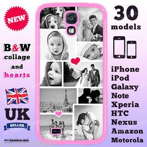 Custodia-COVER-TELEFONO-personalizzato-CUSTOM-foto-e-cuori-Collage-per-iPhone-Samsung