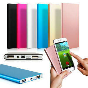 Ultra Thin 20000mah Portable External Battery Charger Power Bank For Cell Phone Ebay
