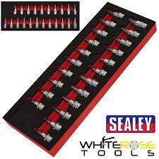 """Sealey TRX-Star*//Hex//Spline Socket Bit Set 22pc 3//8/""""Sq Drive AK6243"""