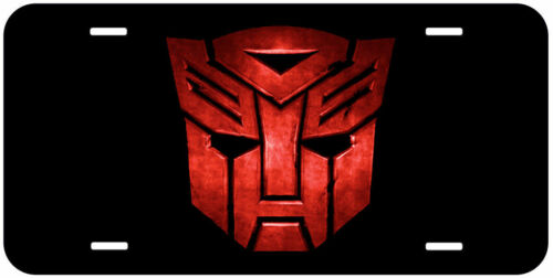 Autobot Transformers Aluminum Novelty Car License Plate