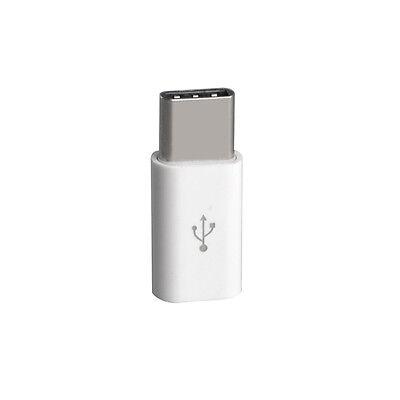 3x Adapter Typ-C 3.1 zu Micro USB 2.0 Konverter Daten Kabel Ladekabel weiß