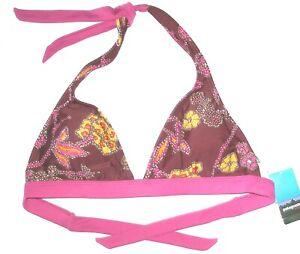 987e8bc30f698 NWT $55 womens PATAGONIA Boucau halter top L large NEW bikini swim ...