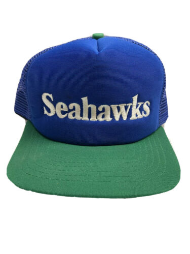 Seattle Seahawks Hat / Cap - Blue / Green Vintage