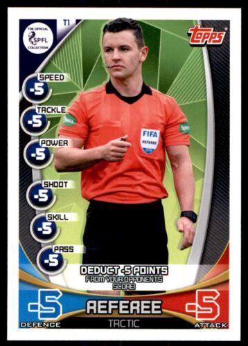 árbitro-táctica tarjeta no Match Attax spfl 2019//2020 escocés TC1