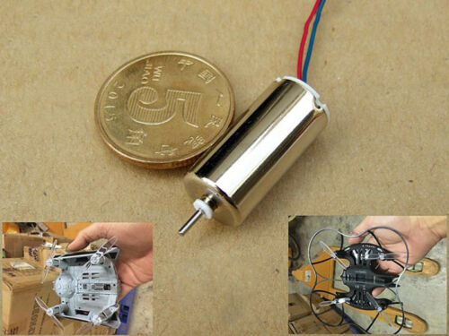 10mm*20mm High Speed Mini Coreless CW/&CCW Motor DC 3.7V 39500RPM DIY RC Drone
