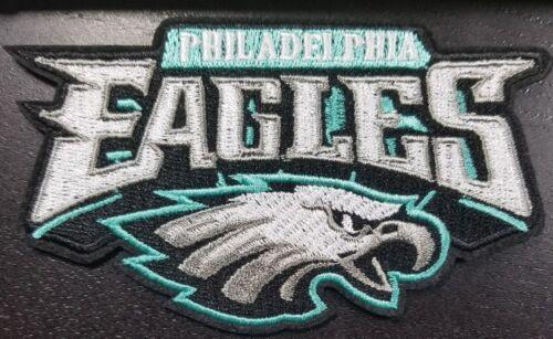 "Philadelphia Eagles 4.5/"" Long Name /& Logo 1st Quality Embr..Iron//Sewn On Patch"
